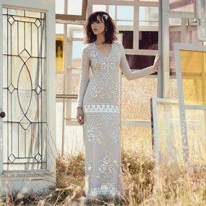 BHLDN Needle & Thread Lake Graphic Rose Gown Sz 10